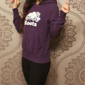 Roots logo print hoodies